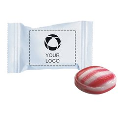 Individually Wrapped Red Striped Peppermint, Case of 1000