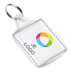 Klassieke sleutelhanger met insert in full-colour