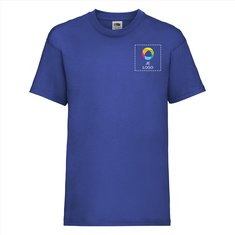 Fruit of the Loom® Valueweight Kinder-T-shirt met bedrukken op de linkerborst