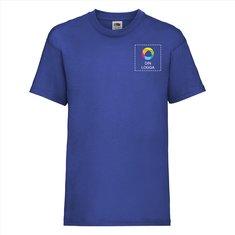 Fruit of the Loom® Valueweight T-shirt för barn med bläcktryck på vänster bröst