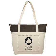 Bullet™ Jute and Cotton Zipped Tote