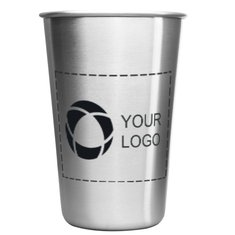 Growl Stainless Steel Pint Glass 16-Ounce