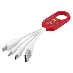 Câble de chargement 4en1 avec USB Type-C TheTroup Bullet