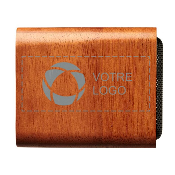 Plaque de charge sans fil avec haut-parleur en bois d'Avenue™