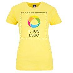 Maglietta aderente da donna 100% cotone filato in catena Russell™