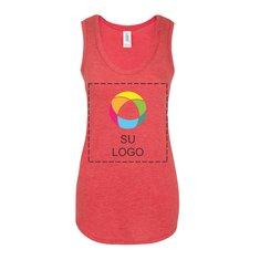 Camiseta sin mangas de espalda cruzada Perfect Tri® para mujer de District Made®