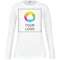 Fruit of the Loom® Lady-Fit Crew Neck Long Sleeve T-Shirt
