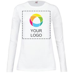 Fruit of the Loom® Lady-Fit Langarm-T-Shirt mit Rundhalsausschnitt