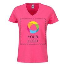 Camiseta entallada de cuello de pico de Fruit of the Loom® para mujer