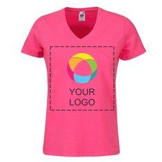 Fruit of the Loom® Lady-Fit T-shirt med v-halsåbning