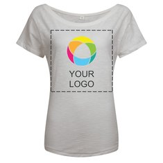 Damen-T-Shirt Vintage Organic Slub in lockerer Passform von Mantis™