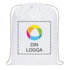 Premium ryggsäck i bomull med bläcktryck