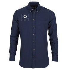Camicia da uomo aderente con stampa monocolore Indigo Bow 31 J.Harvest & Frost