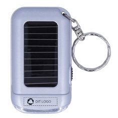 Ringal solcelledrevet nøglering med lommelygte