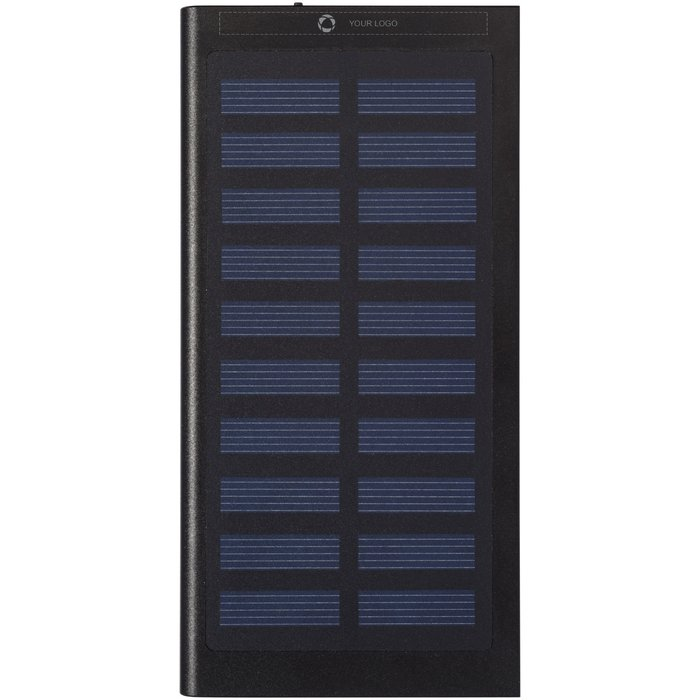 Avenue™ Stellar 8000 mAh Solar Power Bank Laser Engraved