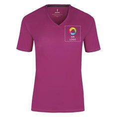 Damen-T-Shirt Kawartha mit V-Ausschnitt von Elevate™, Kurzarm