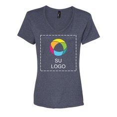 Camiseta Hanes® Nano-T con cuello de pico para mujer