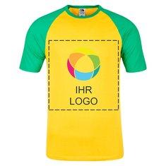 Fruit of the Loom® Baseball-Shirt für Herren, Kurzarm