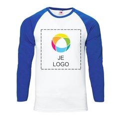 Fruit of the Loom® Honkbalshirt met lange mouwen voor heren