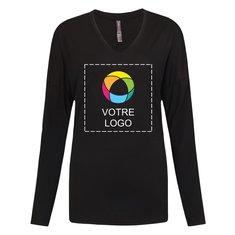 T-shirt femme manches longues effet drapé District MadeMD
