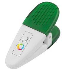 Magnetische memoblaadjeshouder en klem met full-colour drukwerk