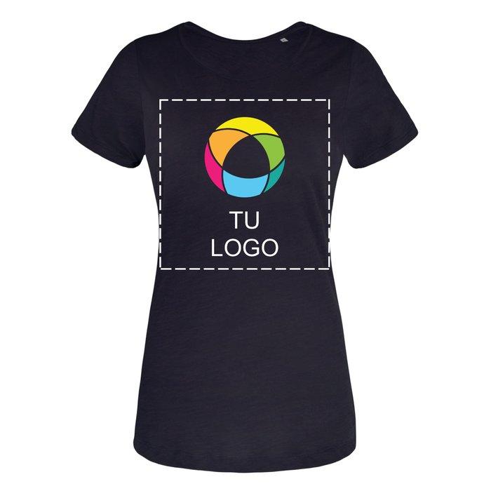 Camisetas de hilo flameado de B&C™ para mujer