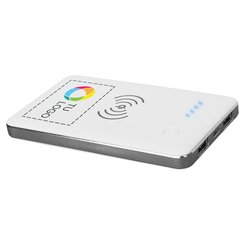 Batería externa inalámbrica PB-4000 con tecnología Qi® y estampado a todo color de Avenue™