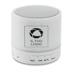Altoparlante Led Bluetooth RoundWhite