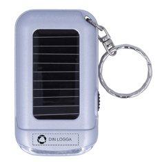 Ringal nyckelring med solcellsdriven ficklampa