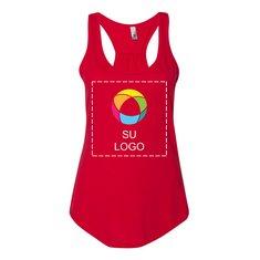 Camiseta sin mangas de espalda cruzada Gathered para mujer de Next Level™