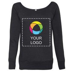 Bella + Canvas Ladies' Triblend Wideneck Sweatshirt