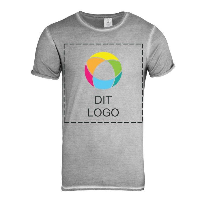 B&C™ Denim Plug In kortærmet T-shirt til herrer