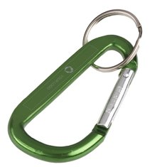 Carabiner Key Chain, Laser Engraved
