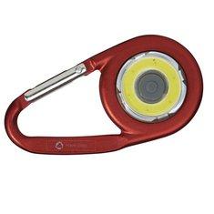 COB-Leuchte The Eye mit Karabiner von Bullet™ mit Lasergravur