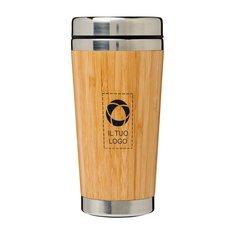 Bicchiere con esterno in bambù da 450 ml Bambus Bullet™