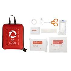 Bullet™ førstehjælpssæt med 17 dele med desinfektionsservietter