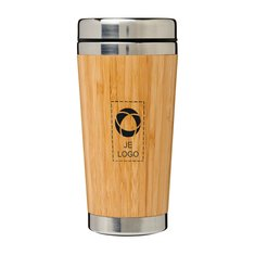 Bullet™ Bambus thermosbeker 450 ml met bamboe buitenkant