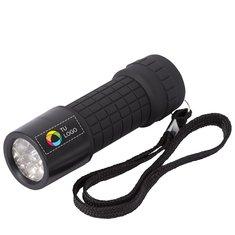 Linterna de nueve LED con estampado a todo color de STAC™