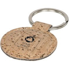 Bullet™ Cork-Look Rounded Keychain
