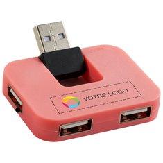 Concentrateur USB 4ports Gaia de Bullet™ imprimé en couleur