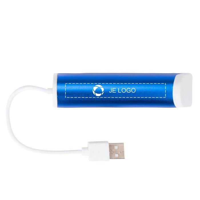 Avenue™ Aluminium USB-hub met 4 aansluitingen en telefoonhouder