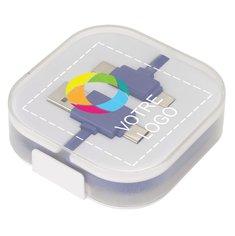 Câble de chargement 3-en-1 Color Pop d'Avenue™ imprimé en couleur