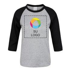 Camiseta juvenil con mangas raglán de ¾ de Port & Company®