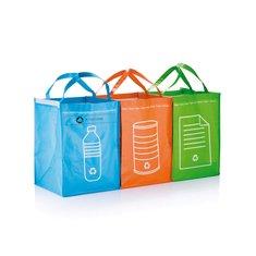 3 borse per la raccolta differenziata