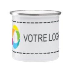 Mug émaillé imprimé en couleur