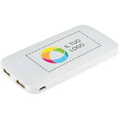 Caricabatterie portatile doppio PB-4000 Zippy Slim Bullet™ con stampa a colori