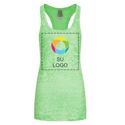 Camiseta sin mangas Next Level™ Burnout de espalda cruzada de mujer
