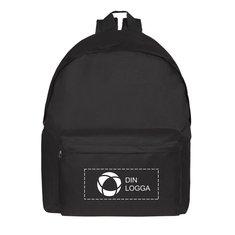 Classic ryggsäck med fack framtill och enfärgat tryck