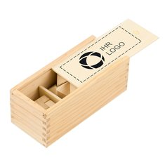 3-teiliges Geduldsspiel aus Holz