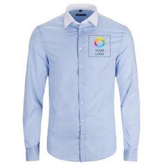Camisa de manga larga fil a fil Belmont de Sol's® para hombre